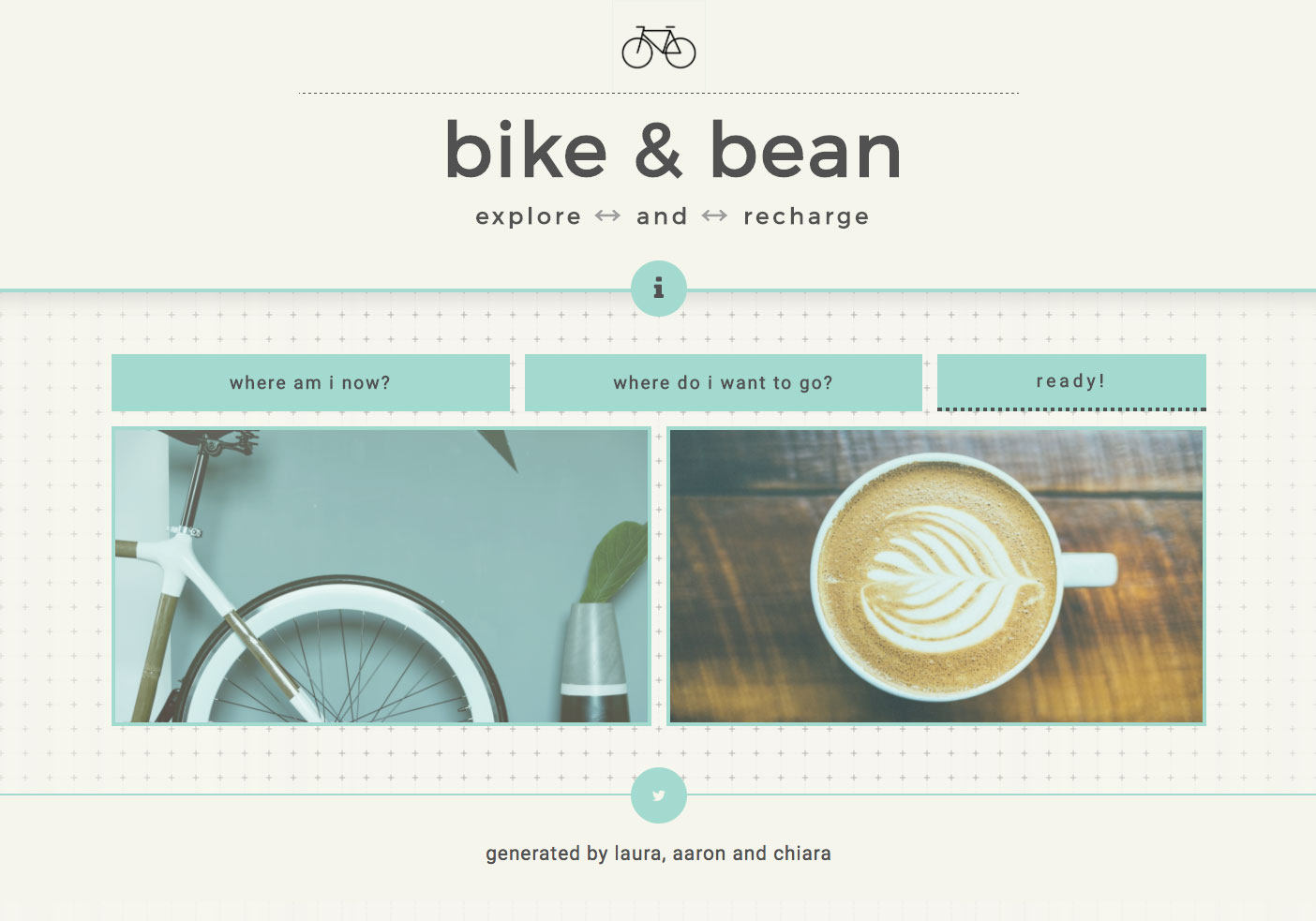 find bikes and coffee